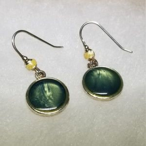 Kenneth Cole Art Glass Earrings #38